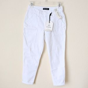 Pants - GENERRA Relaxed Fit White Pants 1 Juniors Cropped